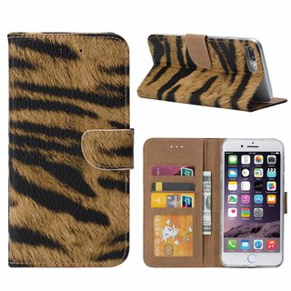 Tijger print lederen Bookcase hoesje voor de Apple iPhone 8 Plus