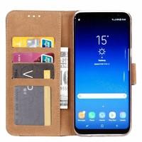 Marmer print lederen Bookcase hoesje voor de Samsung Galaxy S8 Plus - Wit