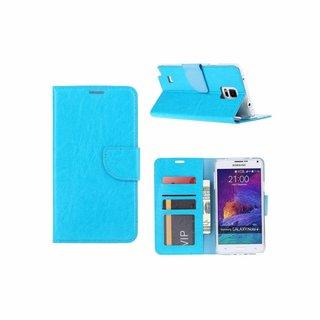 Bookcase Samsung Galaxy Note 4 hoesje - Blauw