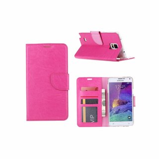 Bookcase Samsung Galaxy Note 4 hoesje - Roze