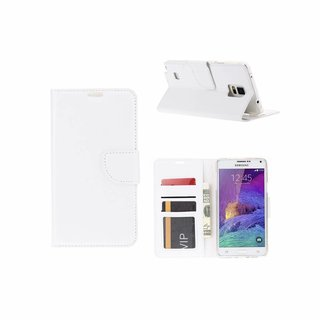 Bookcase Samsung Galaxy Note 4 hoesje - Wit