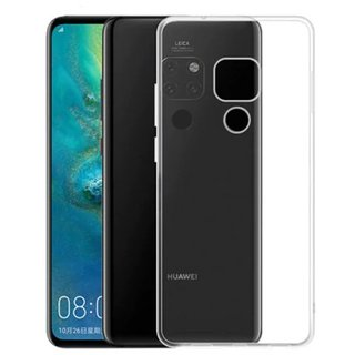 Huawei Mate 20 siliconen (gel) achterkant hoesje - Transparant