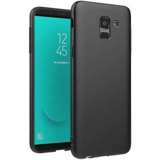 Samsung Galaxy J6 2018 siliconen (gel) achterkant hoesje - Zwart