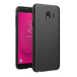 Samsung Galaxy J4 2018 siliconen (gel) achterkant hoesje - Zwart