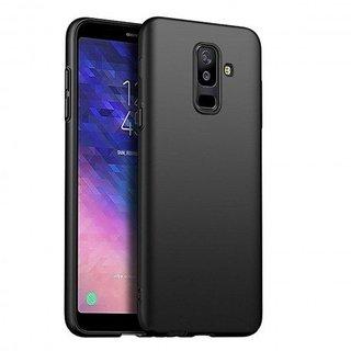 Samsung Galaxy A6 Plus 2018 siliconen (gel) achterkant hoesje - Zwart