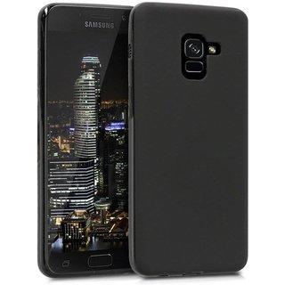 Samsung Galaxy A8 2018 siliconen (gel) achterkant hoesje - Zwart