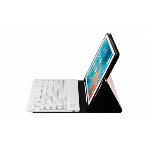 Bluetooth Smart QWERTY Keyboard hoes voor de Apple iPad 2017/2018 (9.7 inch) - Rosé Goud