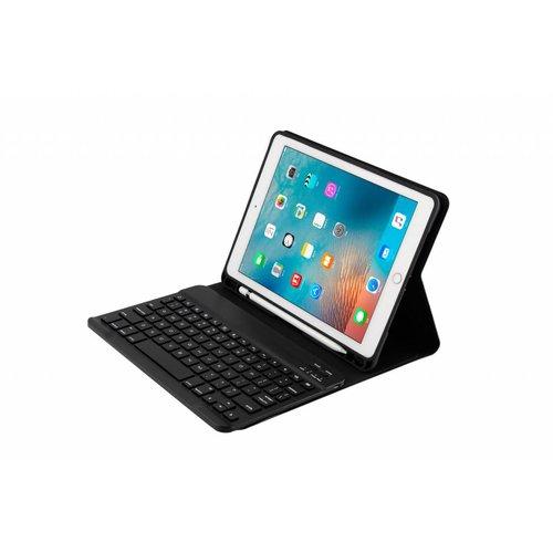 Bluetooth Smart QWERTY Keyboard hoes voor de Apple iPad 2017/2018 (9.7 inch) - Zwart
