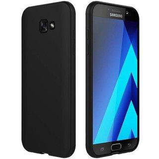 Samsung Galaxy A7 2017 siliconen (gel) achterkant hoesje - Zwart