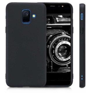 Samsung Galaxy A6 2018 siliconen (gel) achterkant hoesje - Zwart