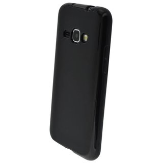 Samsung Galaxy J1 2016 siliconen (gel) achterkant hoesje - Zwart