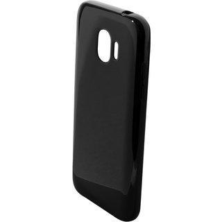 Samsung Galaxy J2 Pro 2018 siliconen (gel) achterkant hoesje - Zwart