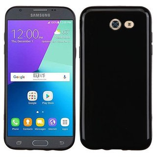 Samsung Galaxy J3 Prime siliconen (gel) achterkant hoesje - Zwart