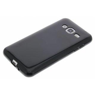 Samsung Galaxy J3 2016 siliconen (gel) achterkant hoesje - Zwart