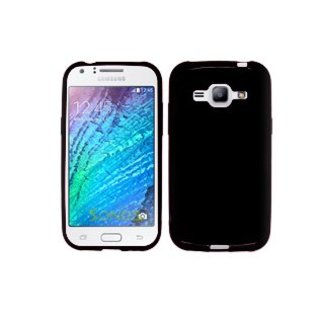 Samsung Galaxy J5 2015 siliconen (gel) achterkant hoesje - Zwart