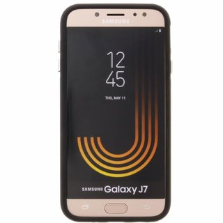 Samsung Galaxy J7 2017 siliconen (gel) achterkant hoesje - Zwart