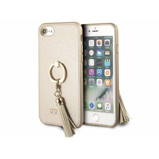 Originele Saffiano Ring Back Cover Hoesje voor de Apple iPhone 6 / 6S / 7 / 8 - Goud