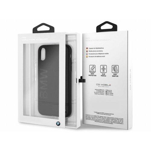 BMW Originele Signature Debossed Logo Folio Back Cover Hoesje voor de Apple iPhone XR  - Zwart