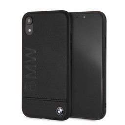 BMW Originele Signature Debossed Logo Folio Back Cover Hoesje voor de Apple iPhone XR  - Zwart