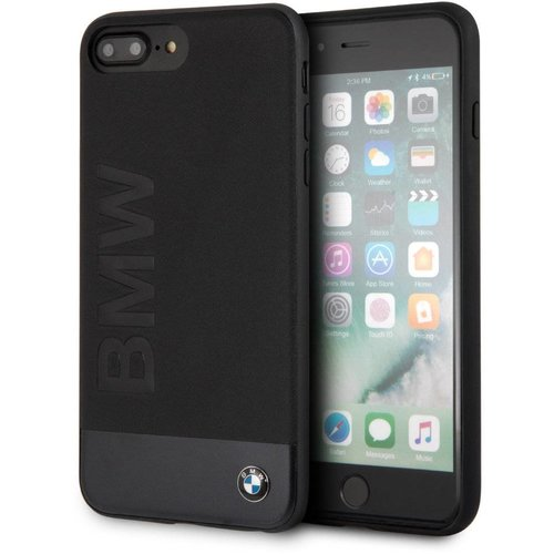 BMW Originele Signature Hybrid Back Cover Hoesje voor de Apple iPhone 6 Plus / 6S Plus / 7 Plus en 8 Plus - Zwart