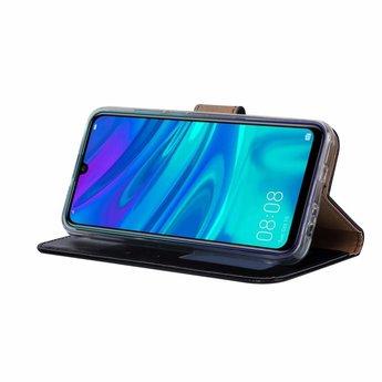Luxe Lederen Bookcase hoesje voor de Huawei P Smart 2019 - Zwart