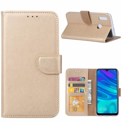 Bookcase Huawei P Smart 2019 hoesje - Goud