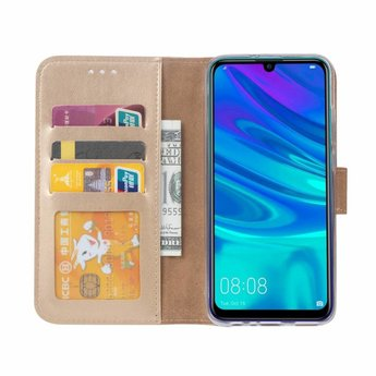 Luxe Lederen Bookcase hoesje voor de Huawei P Smart 2019 - Goud