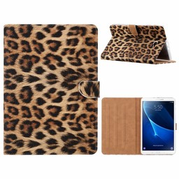Panter print lederen standaard hoes voor de Samsung Galaxy Tab A (10.1 inch)