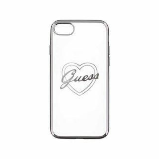 Originele Heart Signature Transparant Hard TPU Back Cover Hoesje voor de Apple iPhone 7 / 8 - Zilver