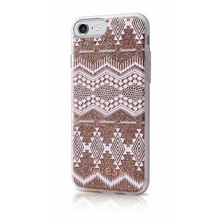 Originele Tribal 3D Aztec Transparant Hard TPU Back Cover Hoesje voor de Apple iPhone 7 / 8 - Taupe