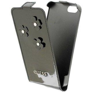 Originele Daisy Flip Case hoesje voor de Apple iPhone 5 / 5S / SE - Zwart