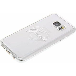 Originele Heart Signature Transparant Hard TPU Back Cover Hoesje voor de Samsung Galaxy S7 - Zilver