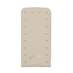 Guess Originele Studded Collection Flip Case hoesje voor de Samsung S5 - Beige