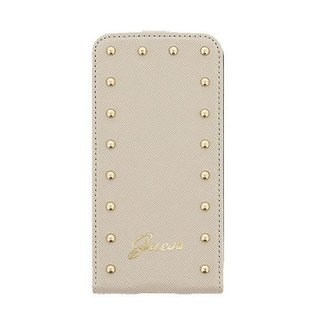 Originele Studded Collection Flip Case hoesje voor de Samsung S5 - Beige