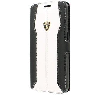 Huracan D1 Bookcase hoesje voor de Samsung Galaxy S6 - Zwart / Wit