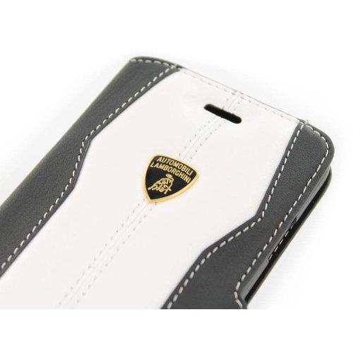 Automobili Lamborghini Huracan D1 Bookcase hoesje voor de Samsung Galaxy S6 - Zwart / Wit