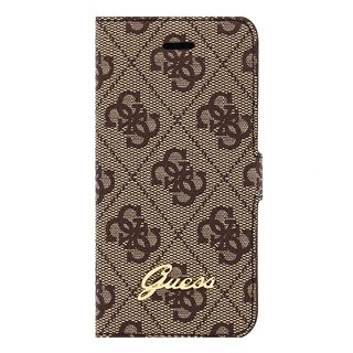 Originele Monogram Bookcase hoesje voor de Apple iPhone 5 / 5S / SE - Bruin