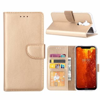 Bookcase Nokia 8.1 hoesje - Goud