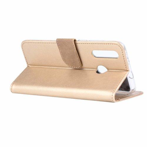 Bookcase Huawei Nova 4 hoesje - Goud