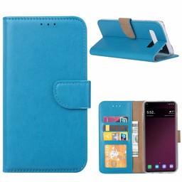 Luxe Lederen Bookcase hoesje voor de Samsung Galaxy S10 - Blauw