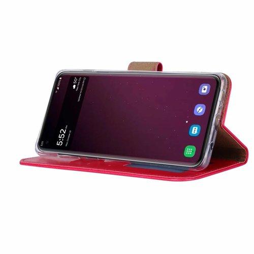 Luxe Lederen Bookcase hoesje voor de Samsung Galaxy S10 Plus - Roze