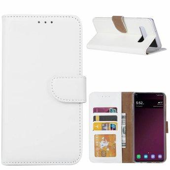 Luxe Lederen Bookcase hoesje voor de Samsung Galaxy S10 Plus - Wit