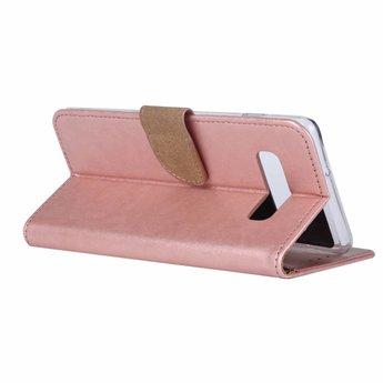 Luxe Lederen Bookcase hoesje voor de Samsung Galaxy S10 Plus - Metallic Roze