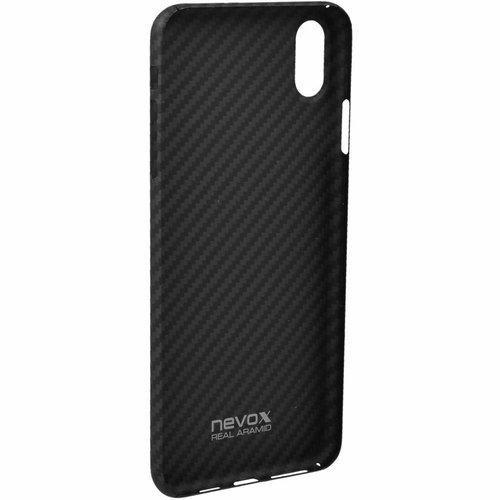 Nevox Originele Aramide Back Cover Hoesje voor de Apple iPhone XS Max - Zwart