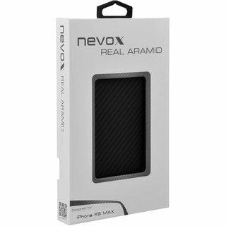 Originele Aramide Back Cover Hoesje voor de Apple iPhone XS Max - Zwart