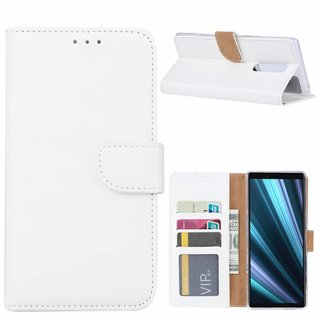 Bookcase Sony Xperia 1 hoesje - Wit