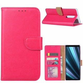 Bookcase Sony Xperia 1 hoesje - Roze