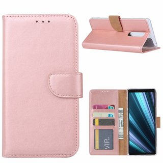 Bookcase Sony Xperia 1 hoesje - Rosé Goud