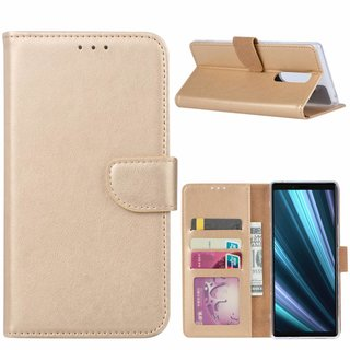 Bookcase Sony Xperia 1 hoesje - Goud