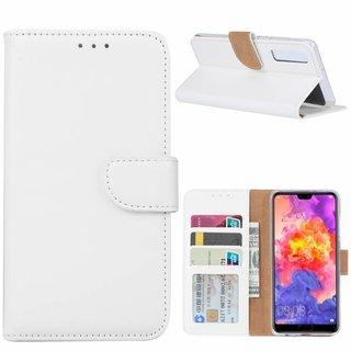 Bookcase Huawei P30 hoesje - Wit